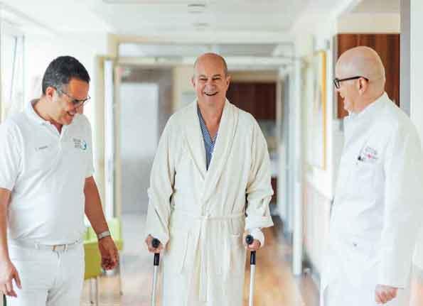 Physiotherapie mit AMIS Hüfte