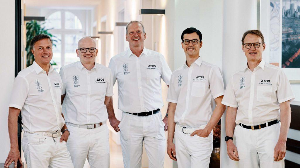Gruppenbild der Ärzte im DGZ Heidelberg